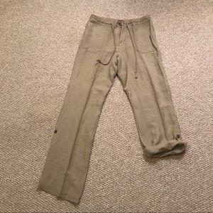 Tan linen EUC pants